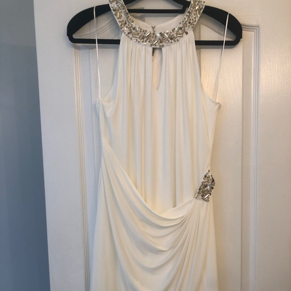 Macy's Dresses & Skirts - White mini dress with beading!